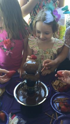 Chocolate fountain was a hit