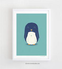 My belly is a polar bear  art print van ilovedoodle op Etsy, $30.00