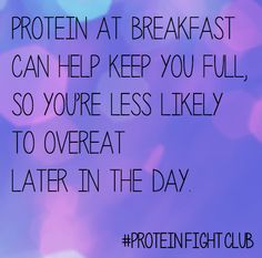 Repin if you had protein this AM! (Hint: A glass of milk has 8 grams) #ProteinFightClub