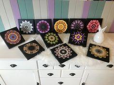 meine Mandalas auf Leinwand 20x20 ❤️ kreativesbypetra Petra, Bags, Mandalas, Canvas, Handbags, Bag, Totes, Hand Bags