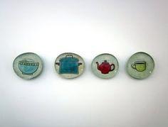 mod podge glass magnets