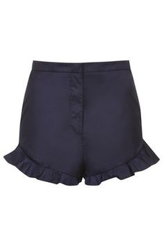 **Frill Hem Shorts By Unique