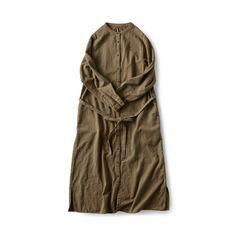 and myera シャトルで織り上げたワンピコート|フェリシモ