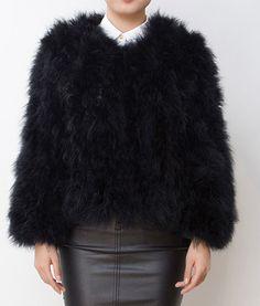 Pellobello Fluffy Fur Fever Jacket Classic Black