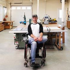 When this solder had to trade motorcycle thrill-riding for a wheelchair, he jumped into woodworking with both feet.