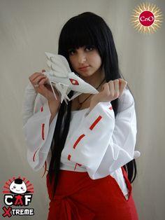 "CAF Xtreme - Cosplay - 2ra Parte: Mika, cosplay de Kikyou (""Inuyasha""). - via @CordobaNoOtakus"