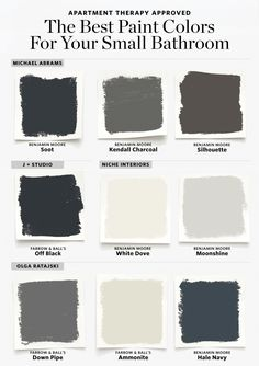 Here are the Best Paint Colors for Your Small Bathroom 2019 Sure a bright white is a common go-to but there are other hues that look fantastic. The post Here are the Best Paint Colors for Your Small Bathroom 2019 appeared first on Curtains Diy. Best Bathroom Colors, Bathroom Color Schemes, Bathroom Design Small, Bathroom Interior Design, Small Bathrooms, Bathroom Ideas, Bathroom Renovations, Bathroom Designs, Bath Design