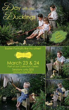Amazing Easter Portraits with baby Ducks!