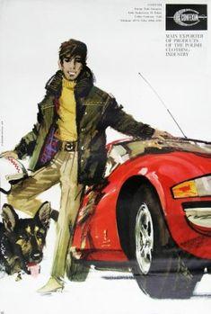 Janusz Grabianski's commercial art work Illustration Art, Vintage Illustrations, Fashion Illustrations, Commercial Art, Old Paintings, Vintage Posters, Painting & Drawing, Illustrators, How To Draw Hands