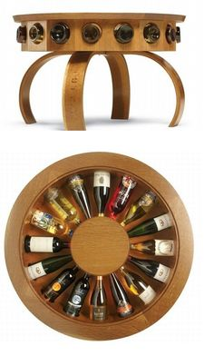 wine display table