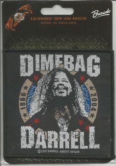 PANTERA Dimebag Darrell 1966-2004 Woven Patch Sew On Official Band Merch