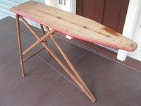 Old ironing board Wood Ironing Boards, Iron Board, Old Wood, Vintage Stuff, Laundry, Rooms, Antiques, Table, Furniture