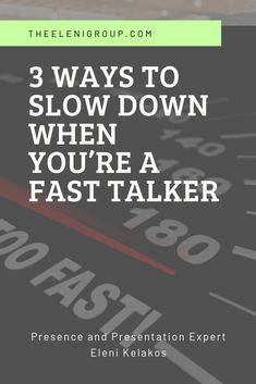 3 Ways to Slow Down When You're a Fast Talker - Public speaking activities - Public Speaking Activities, Public Speaking Tips, Presentation Skills Training, Verbal Communication Skills, Interview Coaching, Online Presentation, Best Speeches, Train Activities, Learning Styles