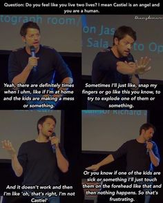 Making your children spontaneously combust... Misha Collins, everyone
