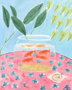 Matisse's Fish, oil on canvas, 16x12 inches, 2015