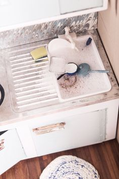 even mini dishes get dirty  @ruemag