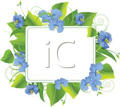 iCLIPART - Royalty Free Clipart Image of a Floral Frame