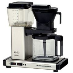 Technivorm Moccamaster KB-741 Coffee Brewer Polished Silver  --Brewing temperature is precisely controlled between 198 and 205 degrees F