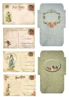 Victorian- cutie envelopes -Astrid's Artistic Efforts: Friday Freebie