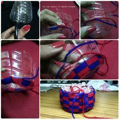 basket from plastic bottles
