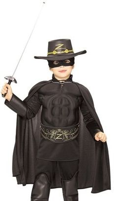 Kids Halloween NEW Boy Zorro Childrens Costume « Delay Gifts