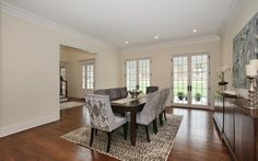 Modern Dining Room with French Doors -Home in Morristown is For Sale by Debbie Woerner-  www.59SpringValleyRd.com
