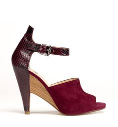 Now THESE  I believe I could wear.  Belle Sigerson Morrison. Perfect Fall Wedge.