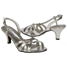 Touch Ups by Benjamin Walk Donetta Shoes (Silver) - Women's Shoes - 8.5 W