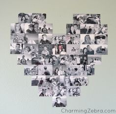 Decorating with everyday Pictures Heart Wall on Capturing-Joy.com