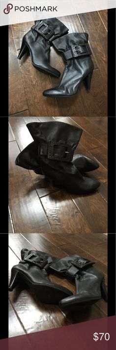 Jessie Simpson Leather Boots Excellent used black soft leather boots  Size: 11B  Color: Black Heel: 3 3/4in Jessica Simpson Shoes Heeled Boots