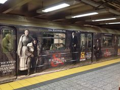 Hatfields and McCoys History Channel train wrap Wrap Advertising, Mobile Advertising, Marketing And Advertising, Hatfields And Mccoys, The Mccoys, Guerilla Marketing, History Channel, Car Wrap, Guerrilla