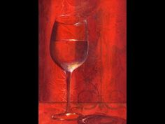 How to Paint Red Wine - Step by Step Acrylic Painting on Canvas for Beginners - YouTube