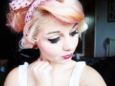 (hipster,pretty,make up,hair,girl)