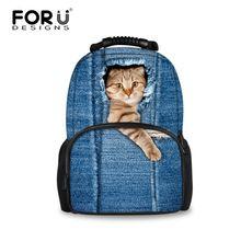 Mignon femmes sac à dos randonnée voyage Cowboy sac, 3D chat chien portable sac à dos sacs d'école pour les filles adolescent Mochila Feminina(China (Mainland))