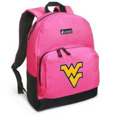 #designer handbags WVU Backpack Pink West Virginia University for Travel, Daypack CUTE School Bags Best Unique Cute Gifts for Girls, Students Ladies - (Apparel)