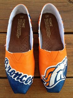 Denver Broncos Shoes I REALLY WANT THESE