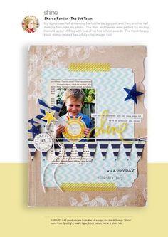 Same LO: whole scrapbook page view.