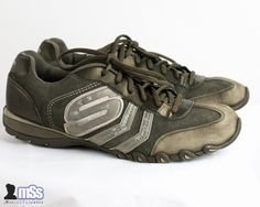 Skechers Khaki Suede Leather Top Trainers Shoes Casual in size 7 UK Comfortable