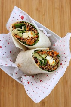 Quinoa Wrap with Avocado, Spinach and Feta - Green Valley Kitchen