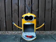 2-Faced Minion Wood Burner, By Barry Wood @ https://m.facebook.com/LogWoodBurners