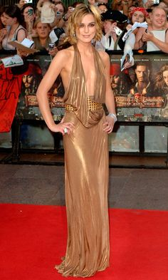 Keira Knightley Goes For Gold In Gucci At The Pirates Of The Caribbean: Dead Man's Chest' Film Premiere 2006
