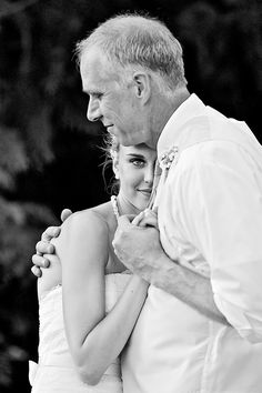 A sweet moment between the bride and her father. Photo by @jeromepollos