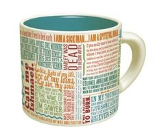Great First Lines of Literature Mug {associate link} --Perfect for any reader in your life, especially those who enjoy coffee and tea! #coffee #tea #books #reading #mugs #literature #quotes #awesomestuff
