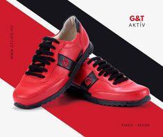 G&T Aktív Piros – Fekete bőr sportcipő Felsőrész: nappa bőr Bélés: valódi bélésbőr Talp anyaga: TR talp Talpbetét: bélésbőrrel kasírozott anatómiai kialakítású  #gtcipo #gtcipő #azengtcipom #almaidcipoje #handmade #madeinhungary #sneakers Aktiv, Sneakers, Shoes, Fashion, Tennis, Moda, Slippers, Zapatos, Shoes Outlet