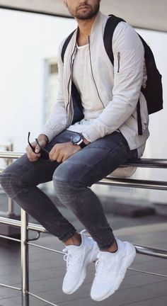 Summer outfits for men - Dress World for Men Trendy Mens Fashion, Stylish Mens Outfits, Men Fashion, Fashion Hacks, Fashion Belts, Fashion Ideas, Casual Outfits, Sneakers Fashion Outfits, Casual Sneakers