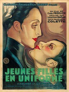 "Movie Posters:Foreign, Mädchen in Uniform (GFFA, 1931). French Grande (47"" X 63"") CarloMariani Artwork.. ..."