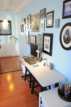 Kids Computer Station In The Family Room :: OrganizingMadeFun.com