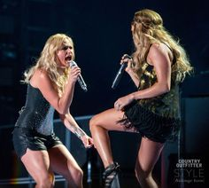 And then Carrie Underwood joined Miranda on stage! Backstage Access: Miranda Lambert at CMA Music Festival | http://www.countryoutfitter.com/style/miranda-lambert-cma-fest/