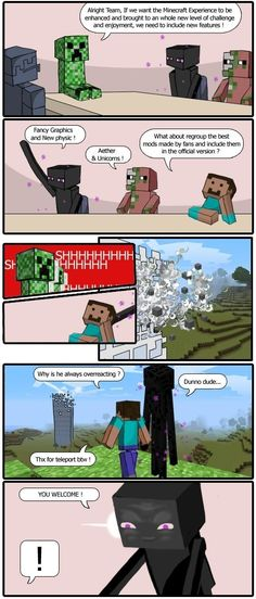 Minecraft Memes for June 2018 Minecraft Quotes, Minecraft Comics, Minecraft Pictures, Minecraft Tips, Cool Minecraft, Minecraft Funny Memes, Minecraft Storage, Minecraft Drawings, Minecraft Blueprints