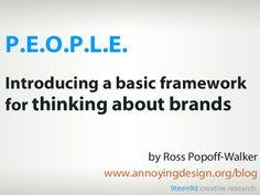 Brands Are People by Ross Popoff-Walker via slideshare